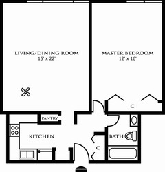 One Bedroom Design B