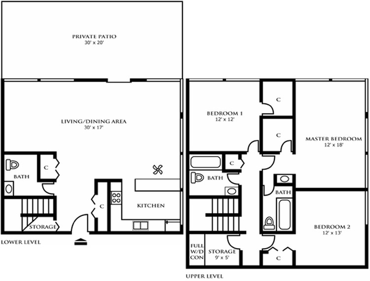 Floor Plan Details Riley Towers Apartments Downtown