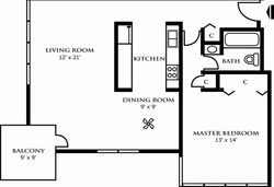 One Bedroom Design D