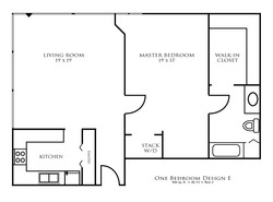 One Bedroom Design E