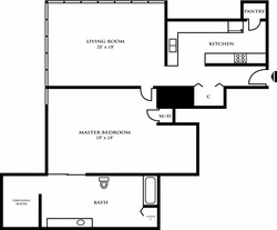 One Bedroom Design F