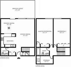 Two Bedroom Town Home Design A
