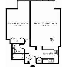 One Bedroom Design A