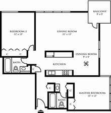 Two Bedroom Design A